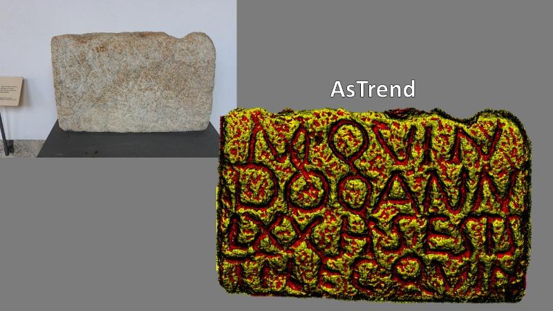 Resultado en 3D obtido con AsTrend