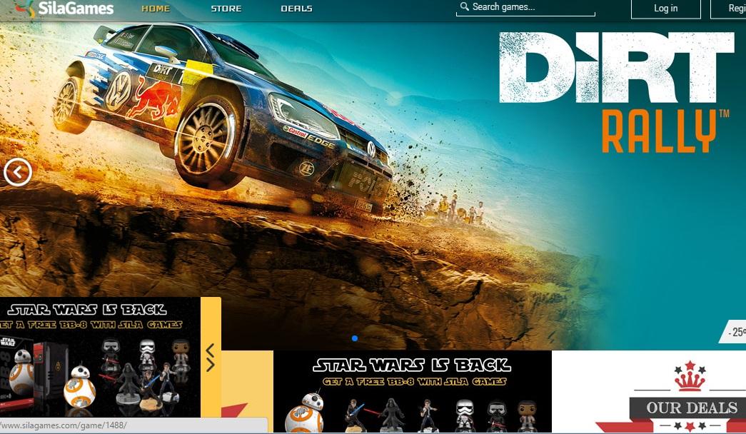 Páxina principal da plataforma Sila Games, nacida en Vigo e de gran impacto internacional.
