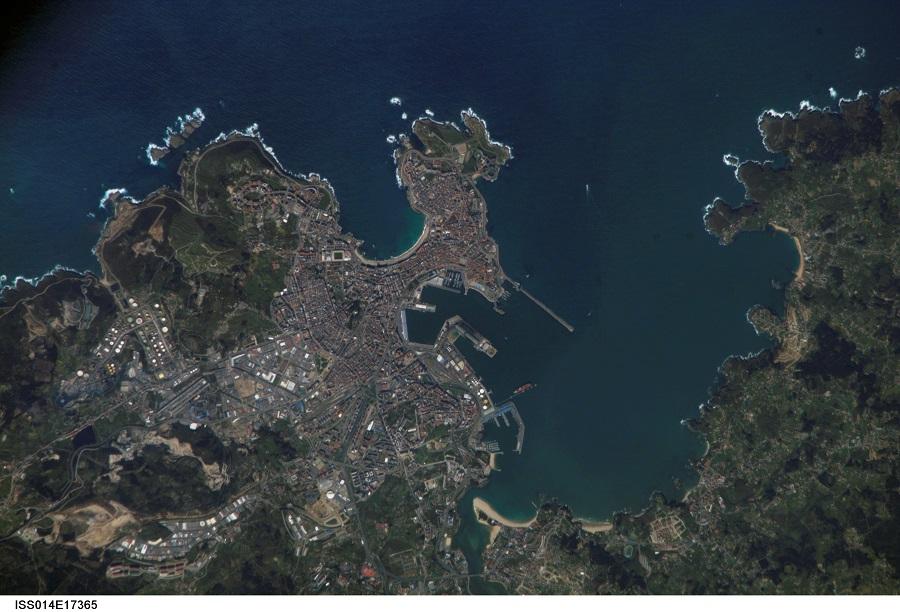 A Coruña vista dende a Estación Espacial Internacional no ano 2007.