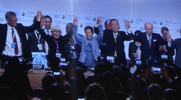 Ban Ki Moon celebra o acordo no Cumio do Clima de Nacións Unidas.
