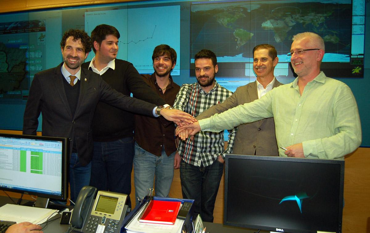 O equipo do Serpens, na proba realizada en Ourense.