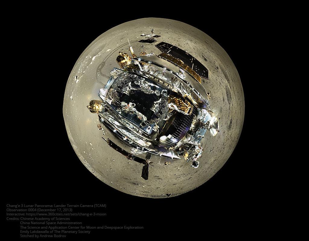 Créditos da imaxe: Academia Chinesa das Ciencias, Chinese National Space Administration, Emily Lakdawalla (Planetary Society) – Encaixado por: Andrew Bodrov