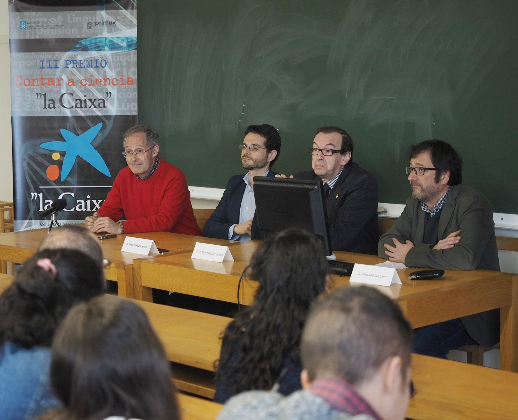 Presentación do premio en Santiago.