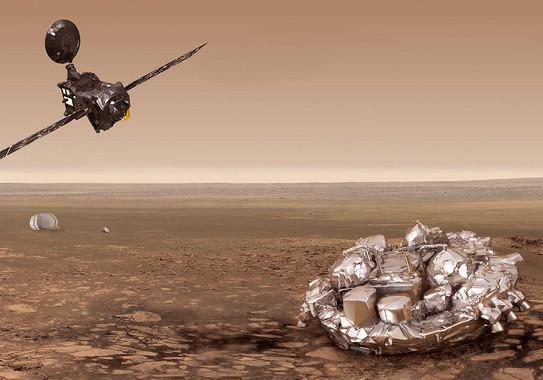Recreación da misión Exomars (ESA).