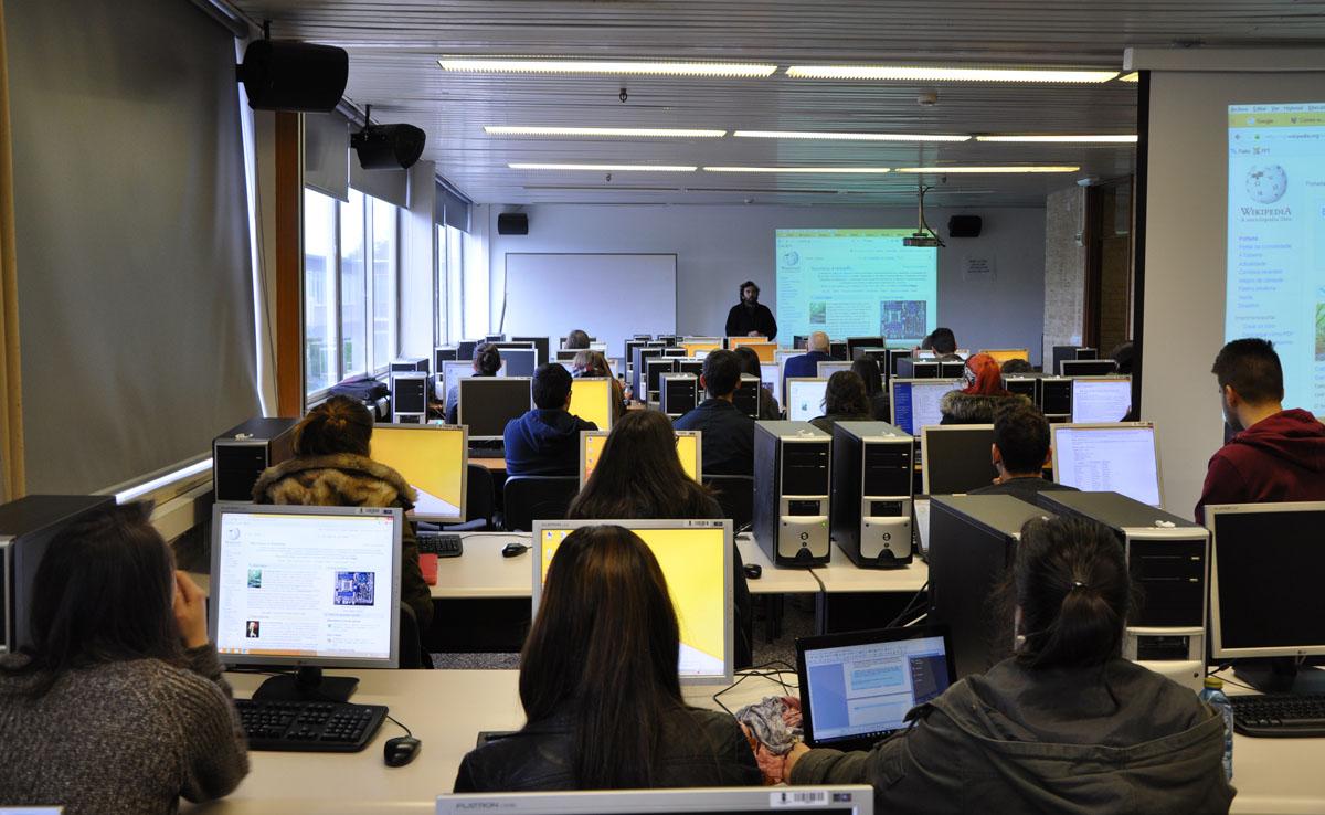O Wikimaratón celebrado en Vigo.