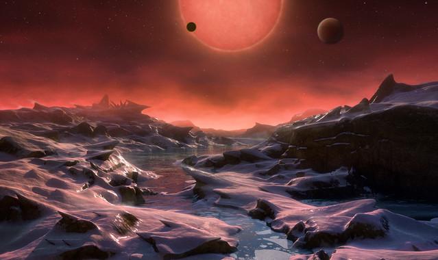 Recreación artística dos novos exoplanetas.