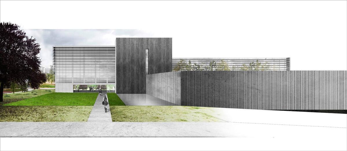 Boceto do futuro edificio do Campus da Auga