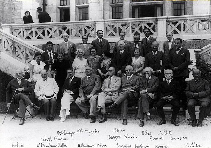 Ribas, cos premios Nobel de Química Fritz Haber e Richard Willstater e o Premio Nobel de Medicina Ulf von Euler.