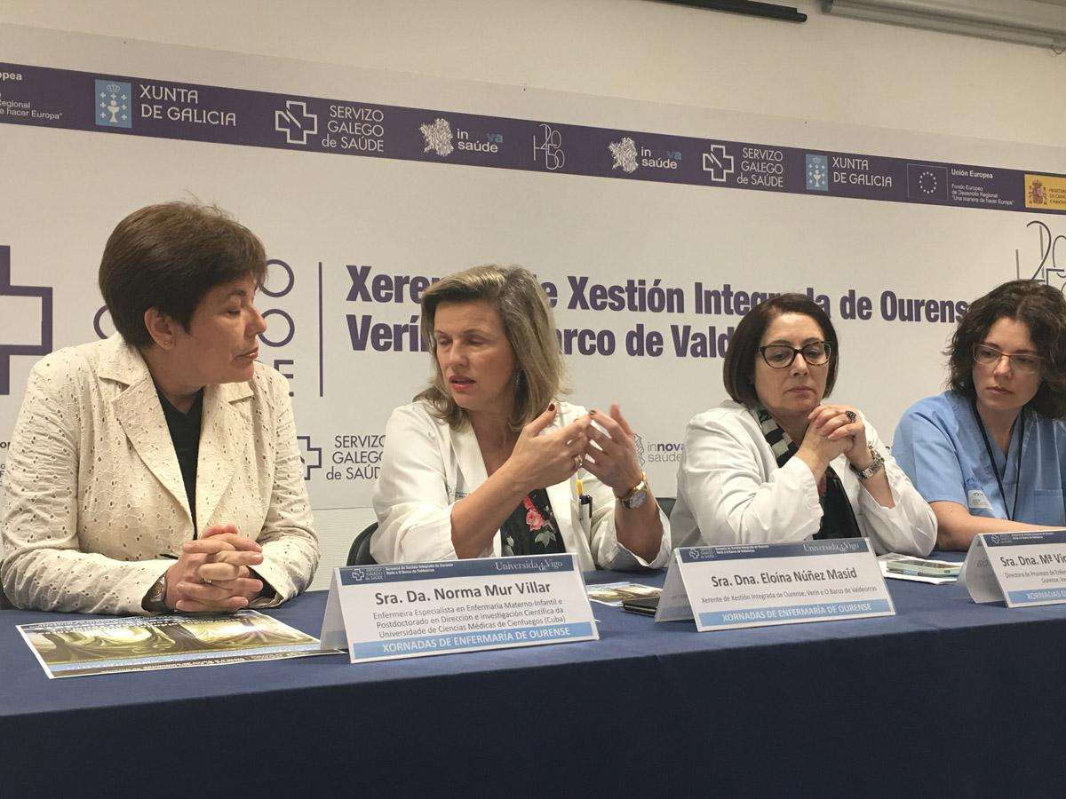 As xornadas foron presentadas este martes por Norma Mur, Eloína Núñez, María Victoria Carral e Esther Pérez