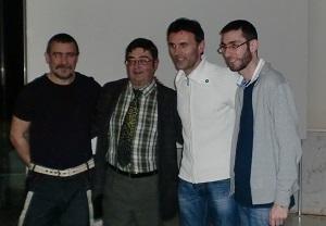 Paradela (primeiro pola esquerda), xunto a Jorge Mira, José Ramón Chaves e Pablo Carpintero.