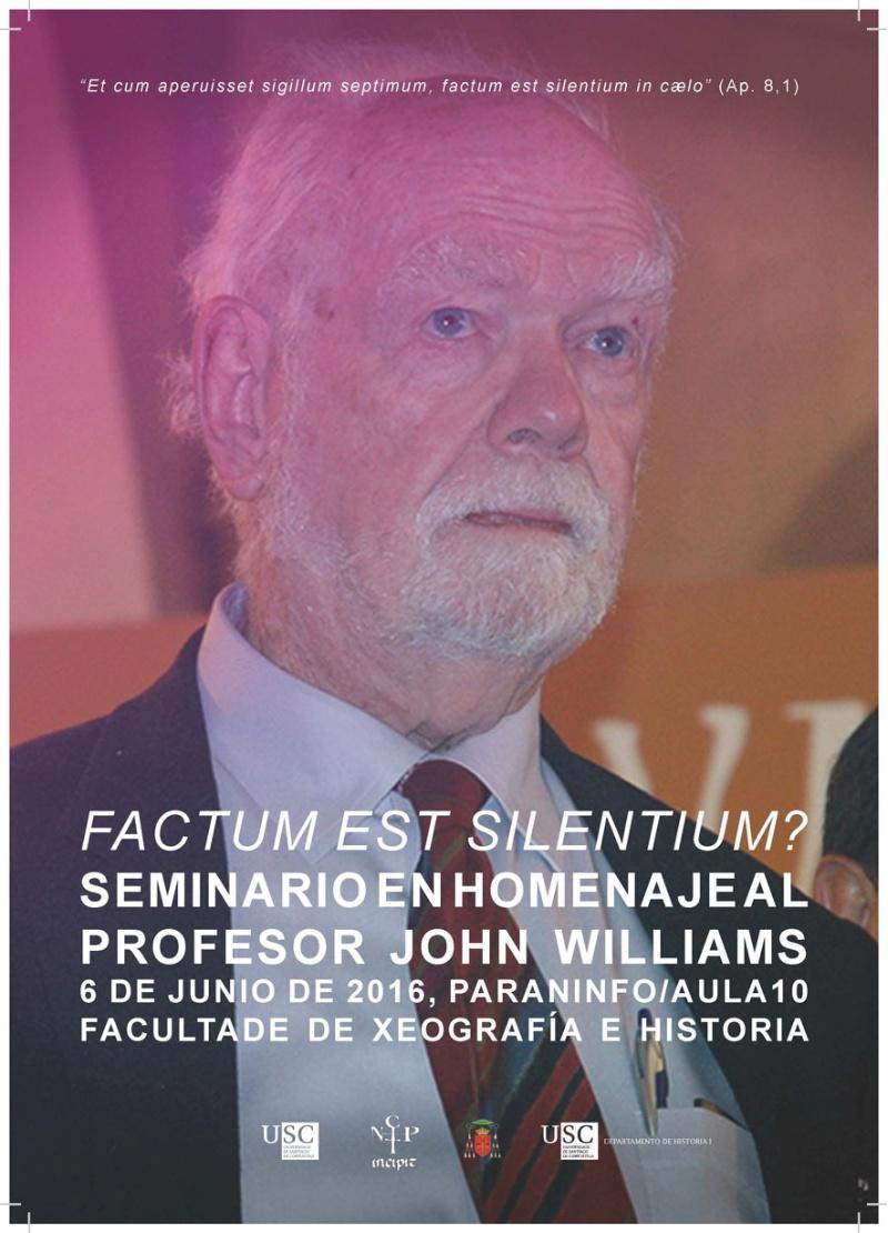 O historiador John Williams visitou en varias ocasións a Universidade de Santiago.
