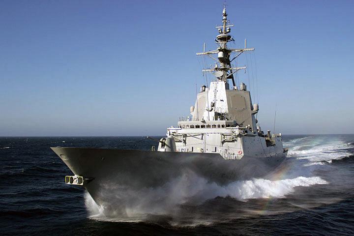 Fragata F-102 Almirante Juan de Borbón, da Armada Española.