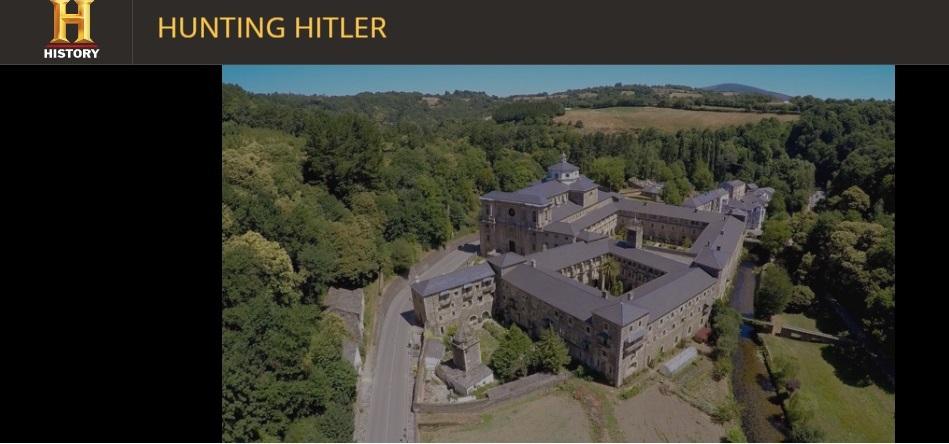 Imaxe do mosteiro de Samos, cabeceira do capítulo V de 'Hunting Hitler'.