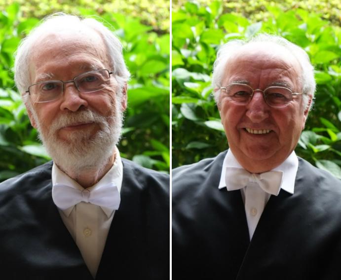 Enric Trillas (esquerda), e Jean-Michel Uhaldeborde. Foto: USC