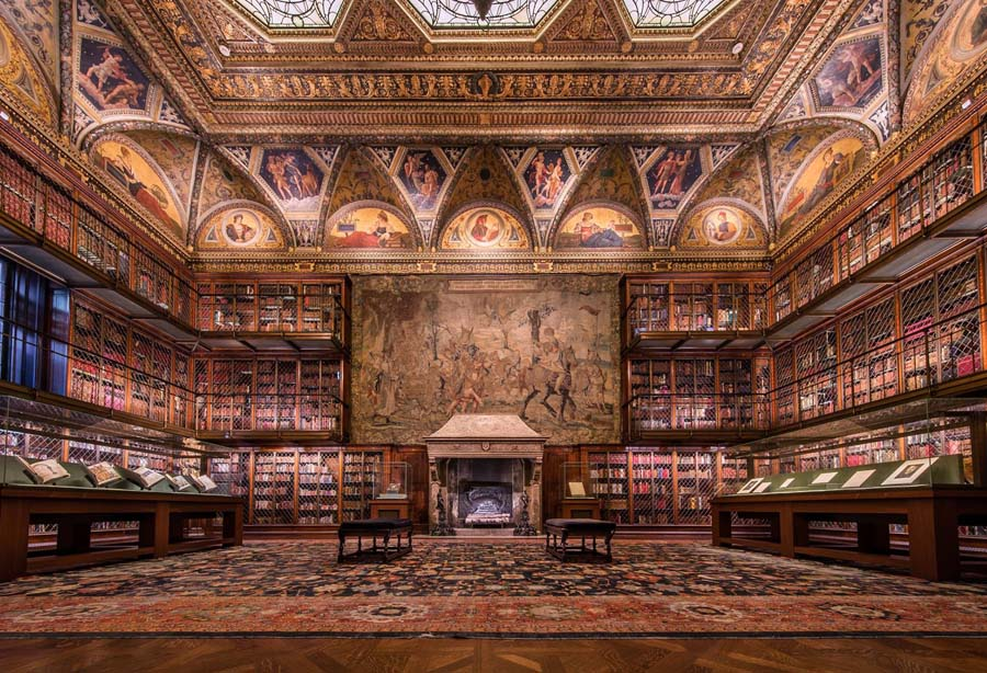 A biblioteca Morgan.