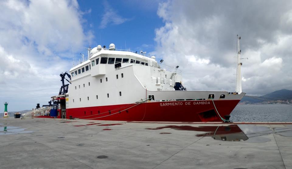 O buque oceanográfico Sarmiento de Gamboa.