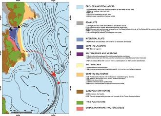 Cartografía das Cíes e da zona marítima.
