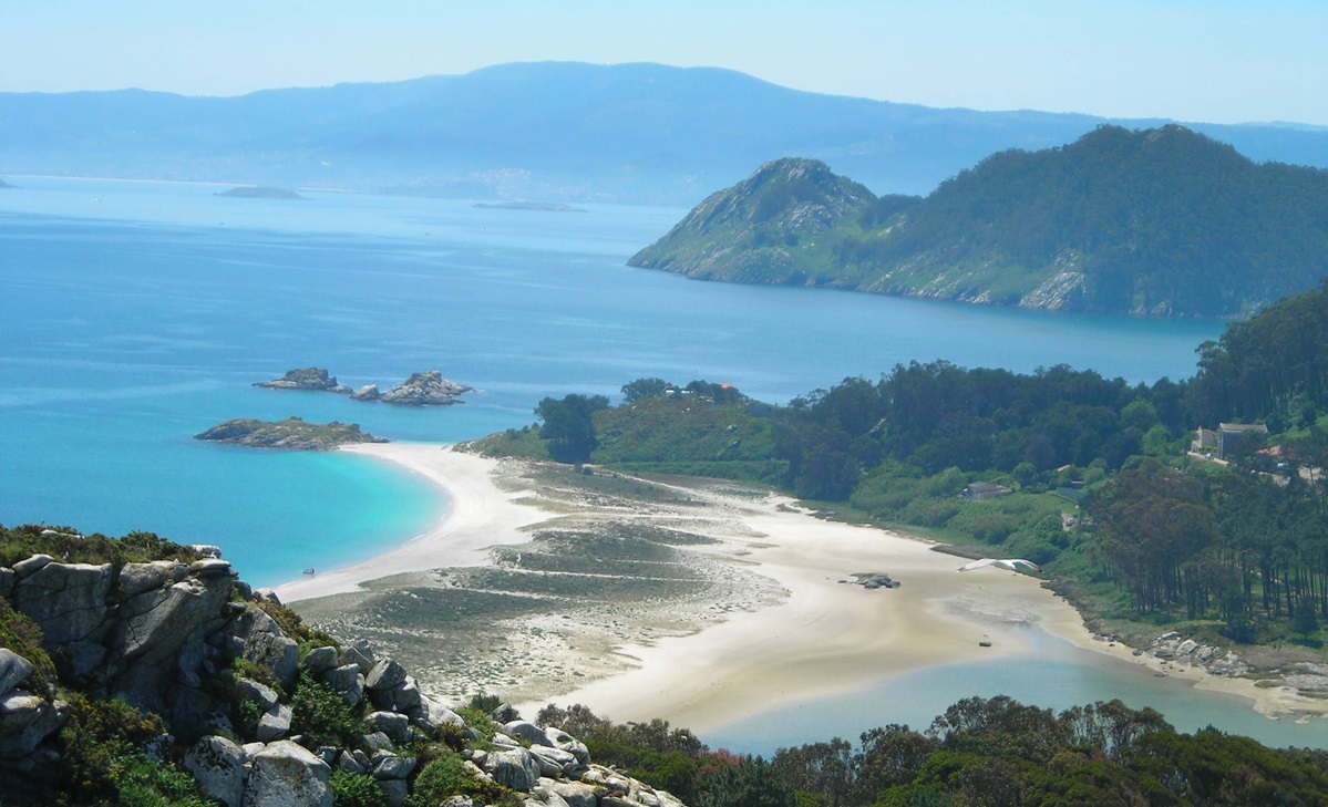 Imaxe das Illas Cíes, pertencentes ao único Parque Nacional de Galicia, o das Illas Atlánticas.