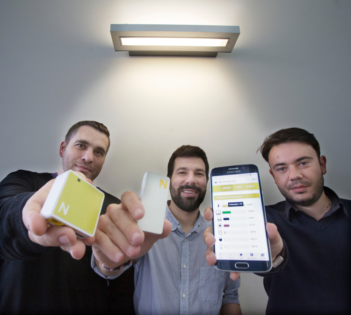 Enrique Comesaña, José Rodríguez e Pablo Otero, creadores de NUbINGS.