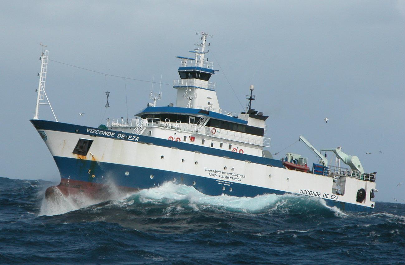 O buque Vizconde de Eza. Foto: IEO.