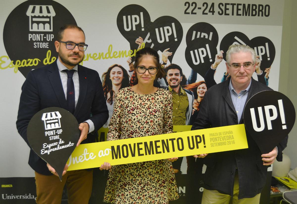 Presentación da feira Pont Up Store en Pontevedra.