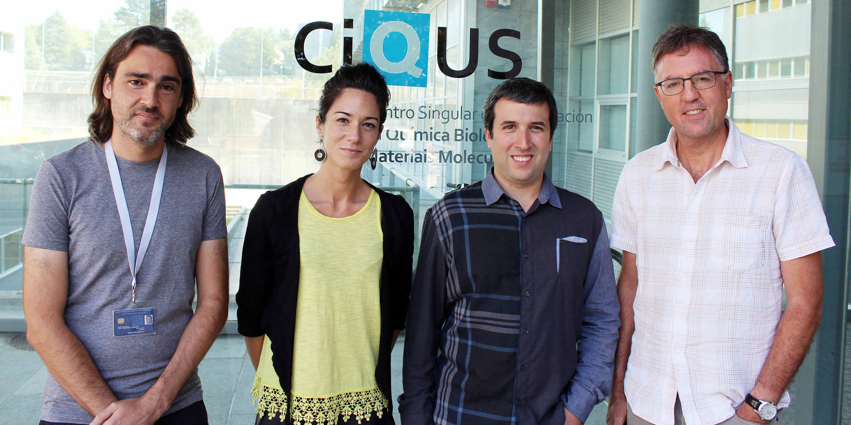 De esquerda a dereita José Couceiro, María Tomás, Miguel Martínez e José Luis Mascareñas. Foto: CiQUS.