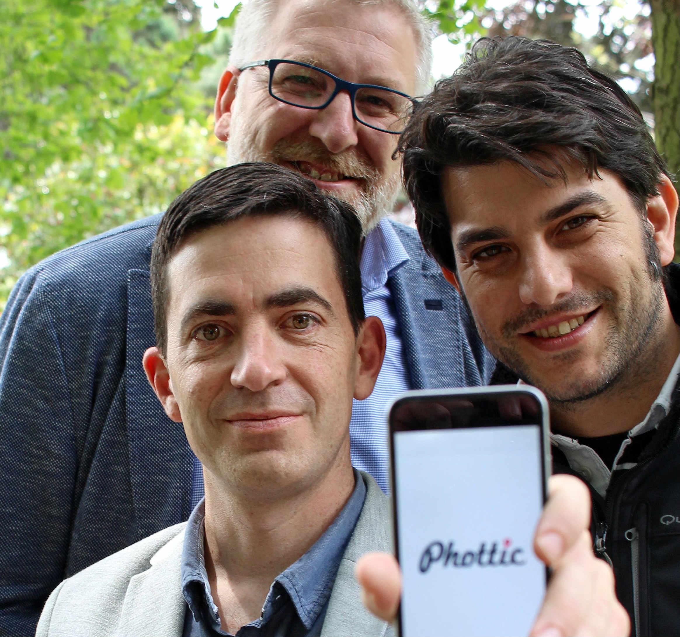 Alejandro Lamas, Manuel Pan e Daniel Cerqueiro, impulsores de Phottic.