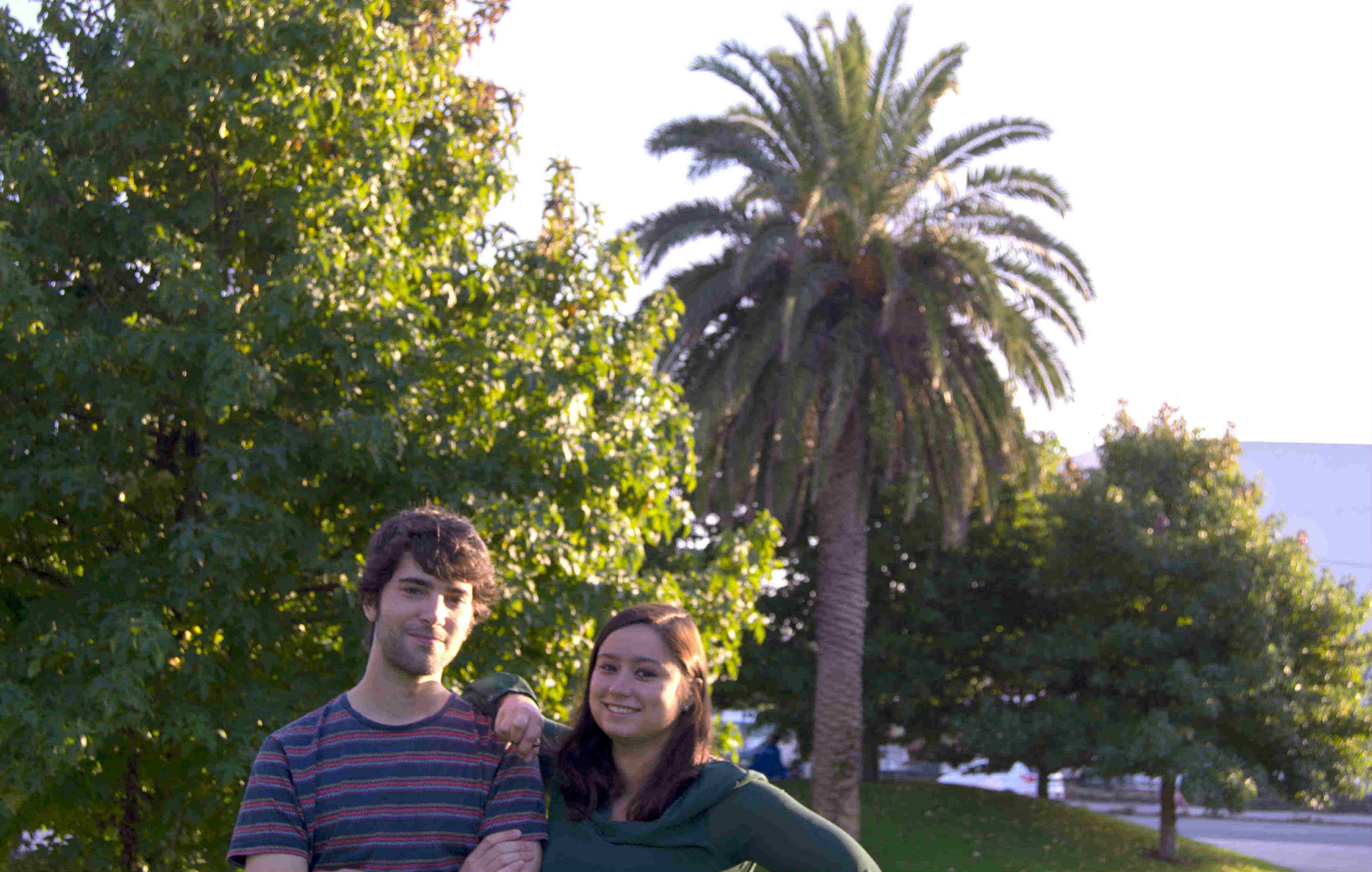 Jorge e Yasmín puxeron en marcha Proyecto Palmera no 2015.
