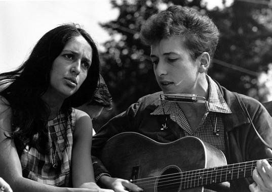 Bob Dylan e Joan Baez.