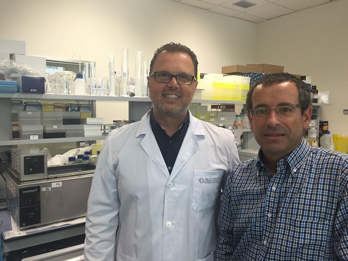 Federico Martinón e Antonio Salas participaron no estudo. Foto: USC.