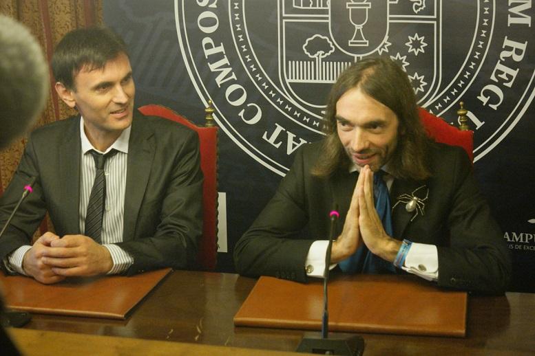 Jorge Mira con Cédric Villani.