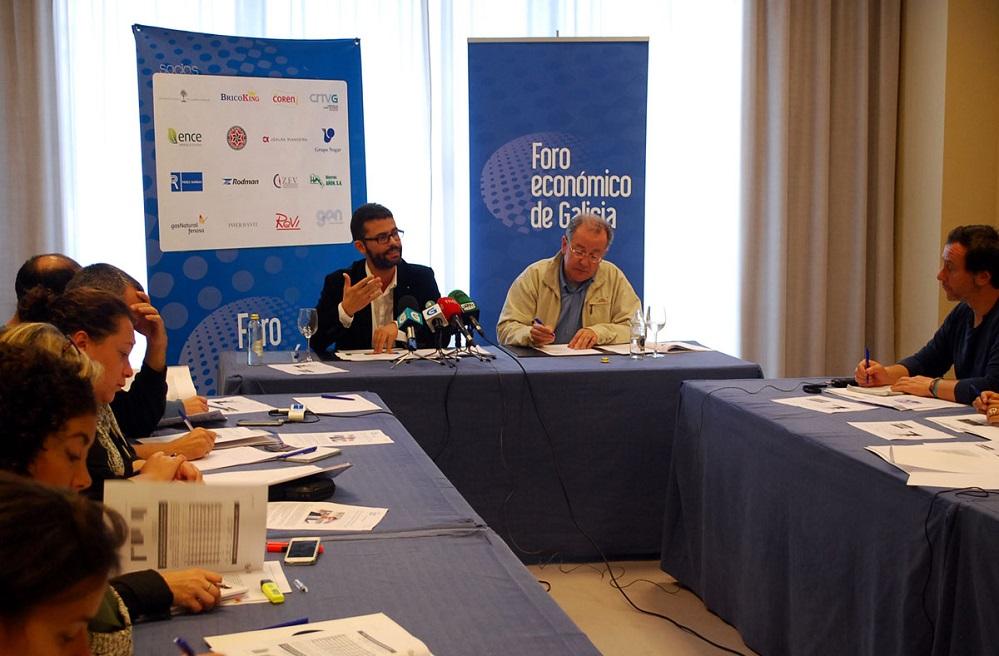 Xosé H. Vázquez, na presentación estudo sobre innovación en Galicia.