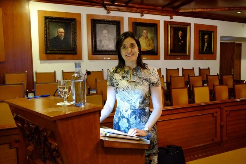 A doutora Esther Vázquez López.