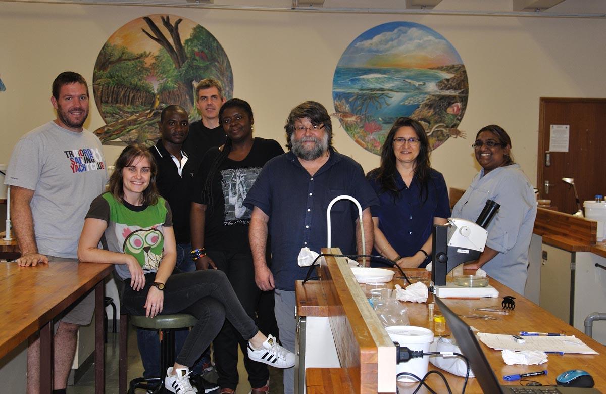 Fran Ramil con outros membros do Workshop en Sudáfrica.
