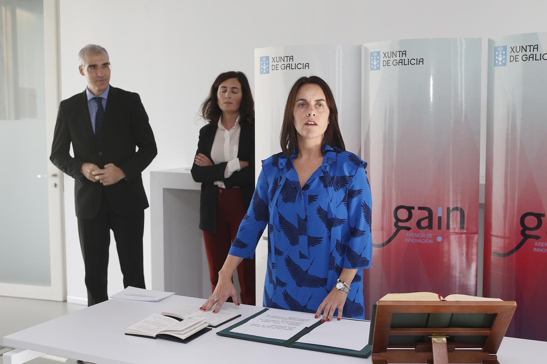 O conselleiro de Economía, Emprego e Industria, Francisco Conde, na toma de posesión Argerey. Foto Xoán Crespo