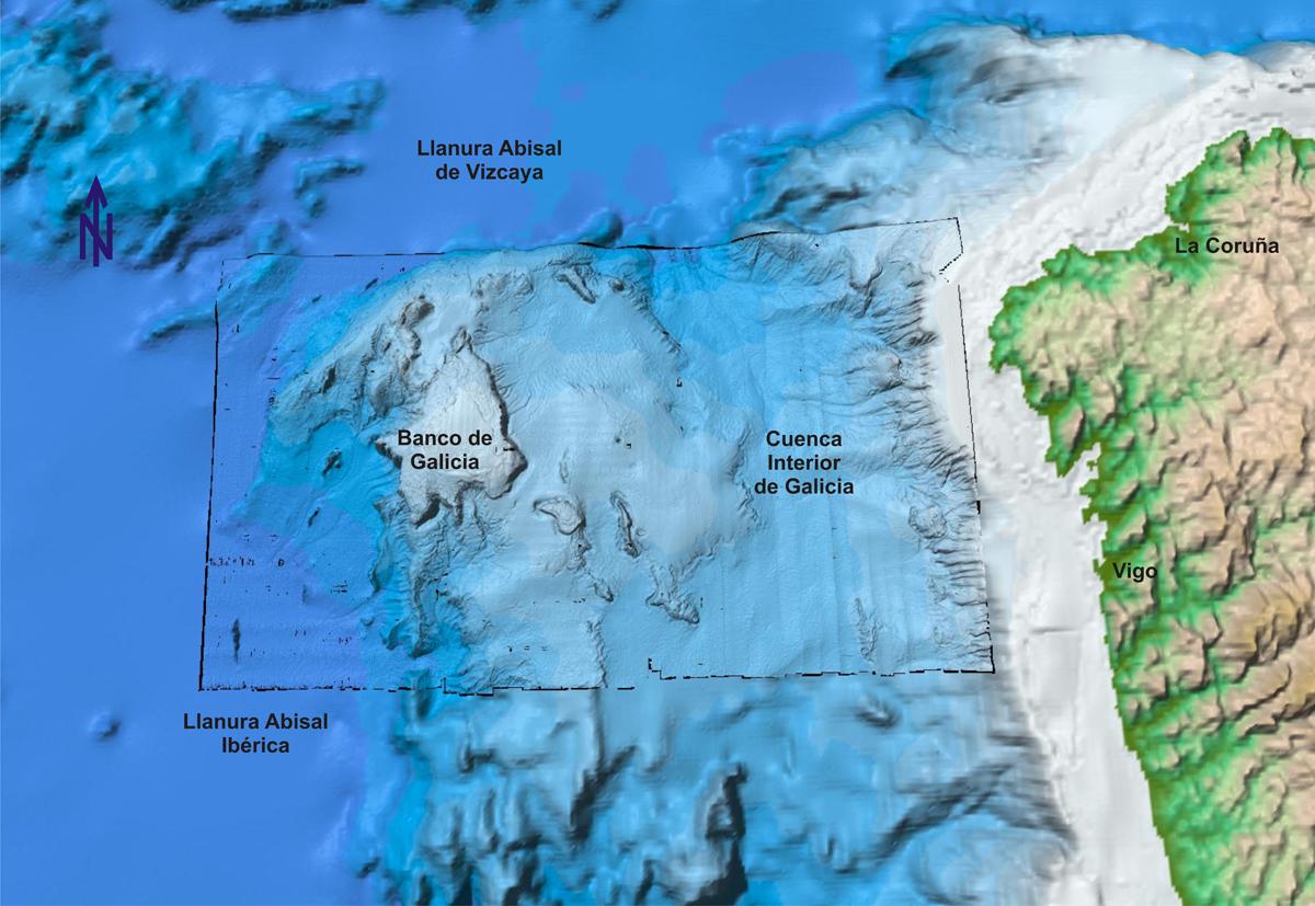 Mapa do banco de Galicia.