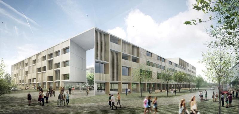Recreación do novo edificio de Ciencias da Saúde.