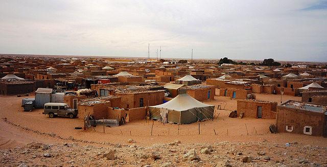 Campos de refuxiados saharauis en Alxeria.