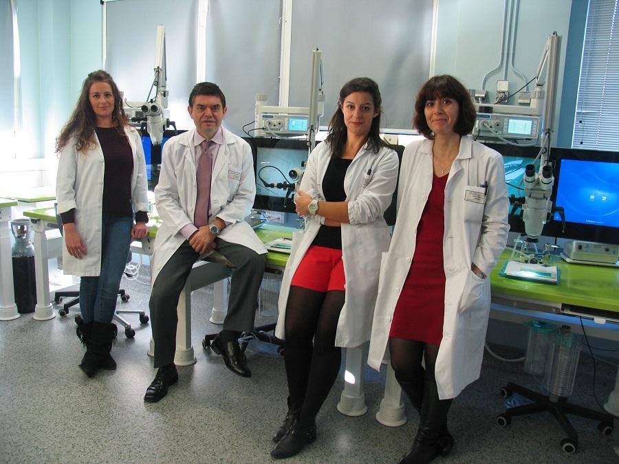 Germán Bou e o seu equipo da Fundación Novoa Santos.