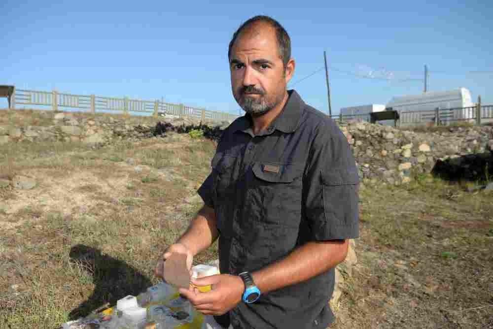 O arqueólogo Rafael Rodríguez.