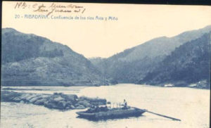 Antigua postal de Ribadavia.