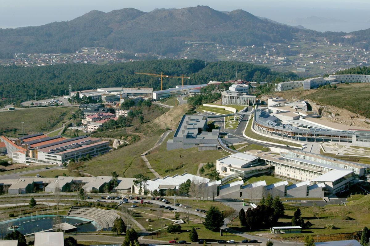 Vista xeral do campus de Lagoas-Macosende, da Universidade de Vigo.