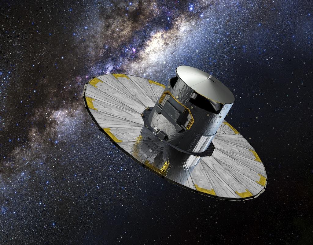 Recreación do satélite Gaia. Imagen: ESA.