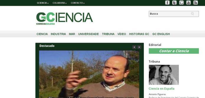 Portada de GCiencia coa entrevista audiovisual a Fernando Aguado sobre o G-Sat.