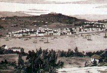 Vista do porto de Vigo no século XIX.