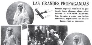 Publicidade do Laxante Bescansa, de Santiago, coas súas modelos.