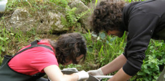 Traballo de campo dos científicos da UNED na súa investigación dos ríos galegos. Foto: UNED.