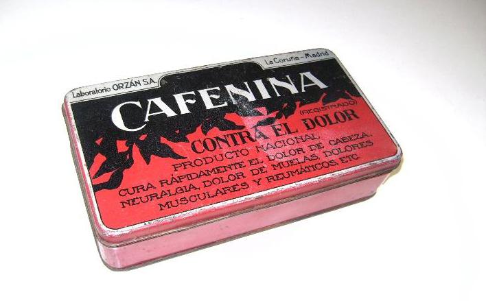 """Cafenina, a """"aspirina"""" galega, de Laboratorios Orzán."""