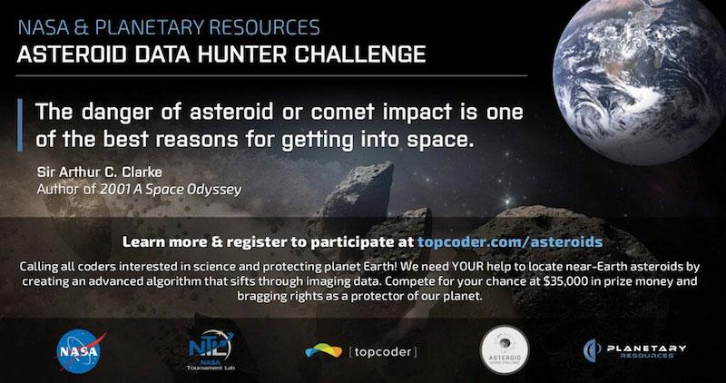 Concurso de la NASA para identificar asteroides