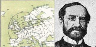 Eduardo Chao e o seu primeiro mapa de isóbaras.